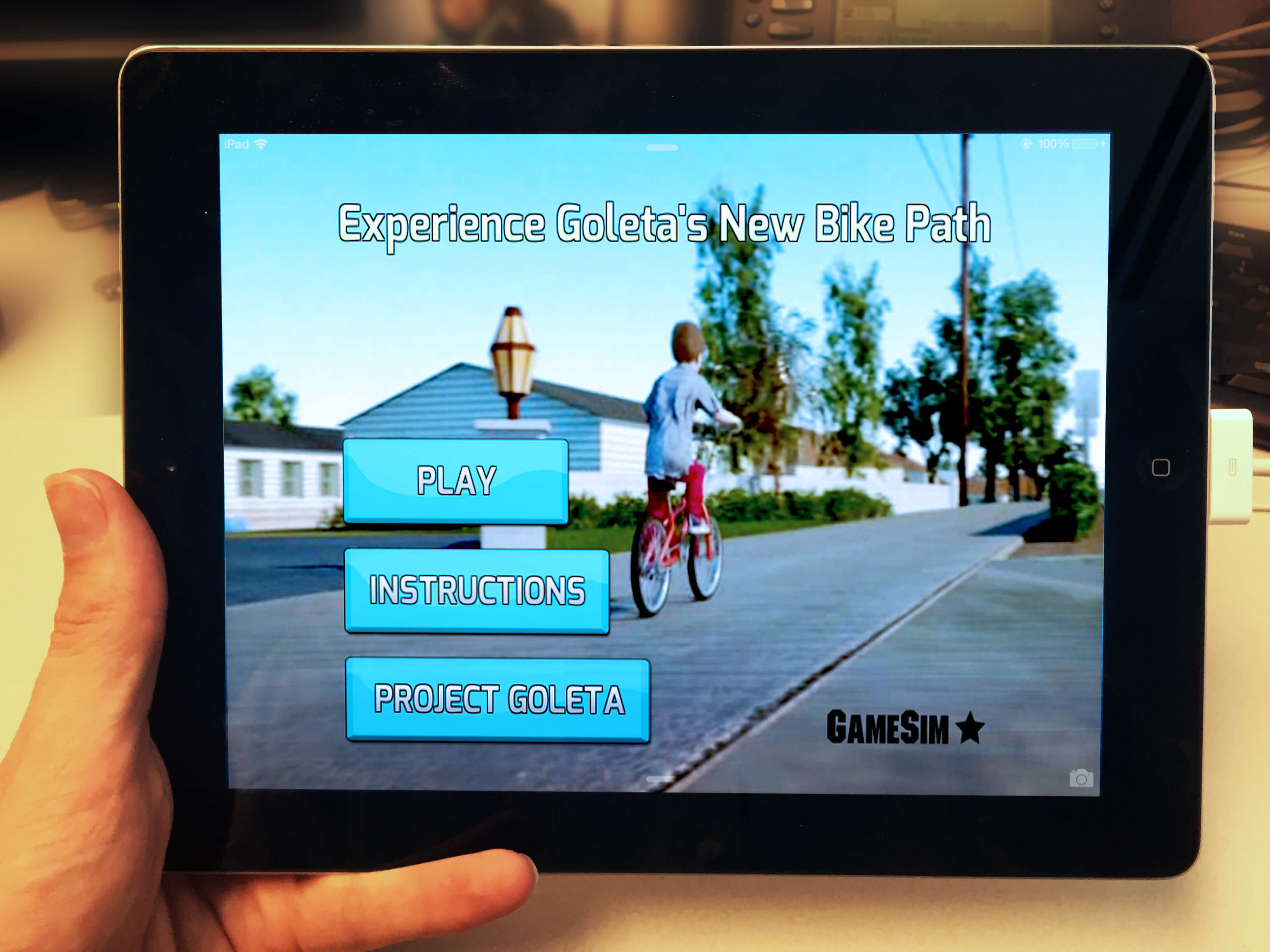 3D Urban Planning: Goleta Bikeway iPad Game