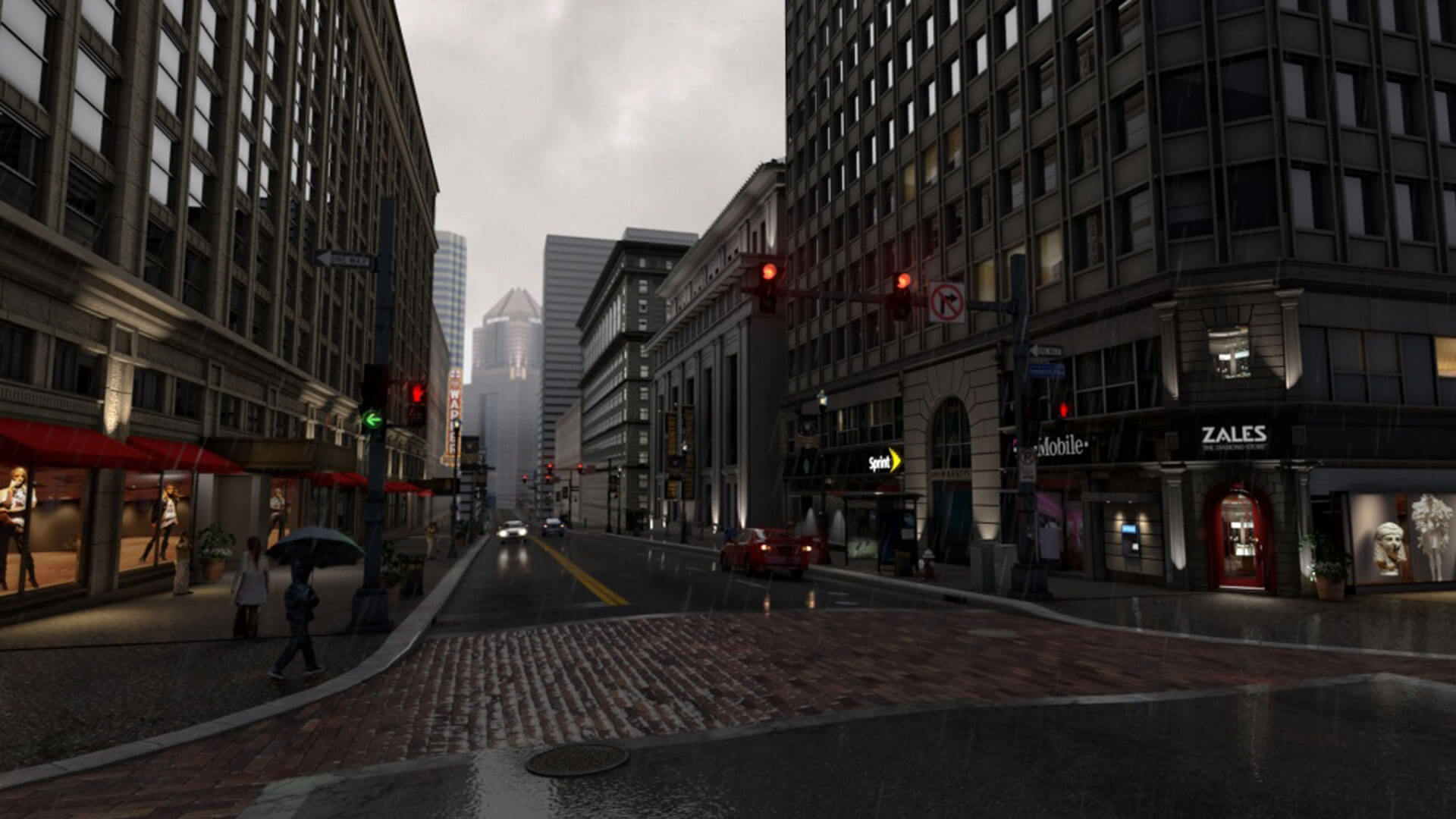 3D Geospatial Downtown Pittsburgh